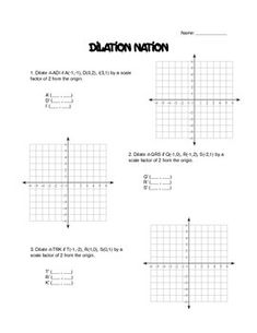 Printables Dilations Worksheet worksheets geometry and on pinterest this is a worksheet dilations moon math