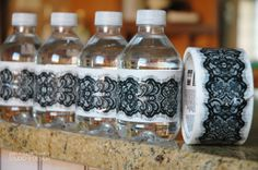 Simple Water Bottle Wraps using Decorative Duct Tape. #diy