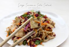 Loves Food, Loves to Eat: Spicy Sesame Soba Salad with Tofu