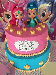 Shimmer and shine birthday cake