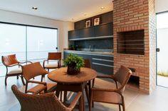 Espaço gourmet : Balcones y terrazas modernos de Tony Santos Arquitetura