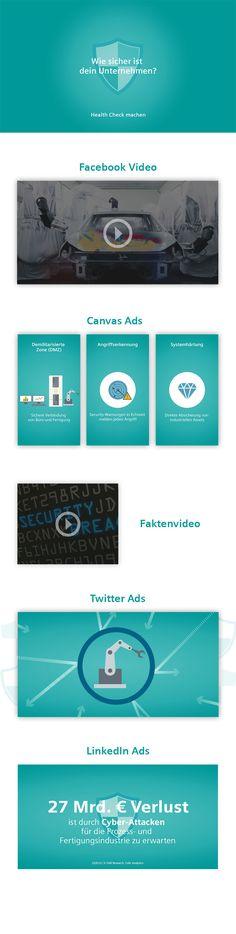 Idee, Konzept und Umsetzung einer Social Media Kampagne mit Twitter, Linkedin Ads und interaktivem Canvasads. Facebook, Videos, Cyber, Twitter, Concept, Psychics, Video Clip