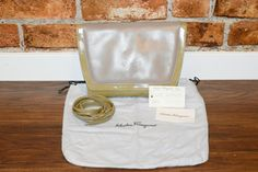 Vintage Salvatore Ferragamo Olive Green Crossbody Purse by LuoLuv