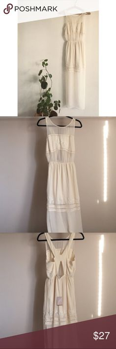 Urban Outfitters Cream Sheer Dress kimchi Blue, for U.O. The only flaw it that has a tiny rip in the back that can easily be fixed. Urban Outfitters Dresses