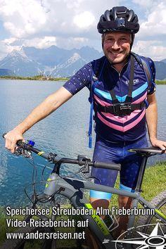 (Anzeige) Der Speichersee Streuböden Alm in Fieberbrunn ist einer meiner Stopps während einer Gourmet Mountainbike Tour. Von hier hast Du einen traumhaften Blick auf die umliegenden Berge. Mehr von diesem Ausflugsziel per Mountainbike im Pillerseetal in den Kitzbüheler Alpen erzähle ich Dir im Reisevideo. #pillerseetal #kitzbüheleralpen #visittirol #UrlaubOhneAuto Sports, Gourmet, Europe, Outside Activities, Travel Report, Bicycling, Mountains, Hs Sports, Sport