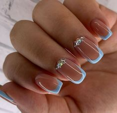 Simple Acrylic Nails, Best Acrylic Nails, Acrylic Nail Designs, Simple Nails, Elegant Nails, Stylish Nails, Nail Manicure, Toe Nails, Gorgeous Nails