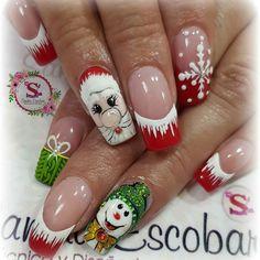 red glitter coffin nails for winter makeup inspiration 6 Santa Nails, Xmas Nails, Holiday Nails, Halloween Nails, Christmas Nail Designs, Christmas Nail Art, Merry Christmas, Fingernail Designs, Nail Art Designs