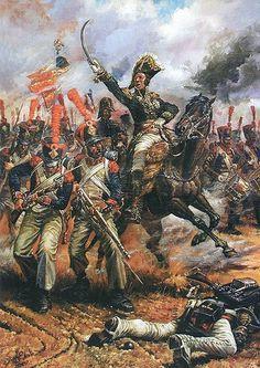 French infantry attack.  La Pintura y la Guerra. Sursumkorda in memoriam: