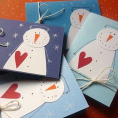 no link, but photo is gooe Christmas Crafts For Kids, Christmas Activities, Christmas Projects, Winter Christmas, Holiday Crafts, Diy Christmas Cards, Christmas Decorations, Tarjetas Diy, Snowman Cards