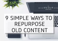 Re-purposing your content can be a great way to increase your productivity and maximize your efforts.