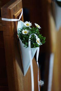 Deko fr die Kirche; nach der Kirche knnten wir die Blumen urban-gardening-mig in der Stadt aufhngen