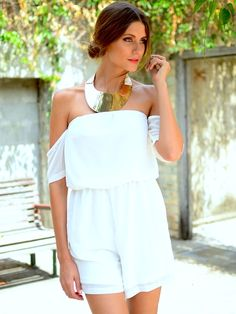 Serenity Playsuit white at Mura Boutique 2013 style