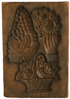 11in x 7.5in Thomas Collection - Aachen, Germany, late 19th. C. Grapes, Basket, Hand holding Rose