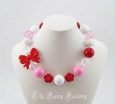 Children's Valentine's Day Necklace Red by TheFairyFactoryShop, $19.00