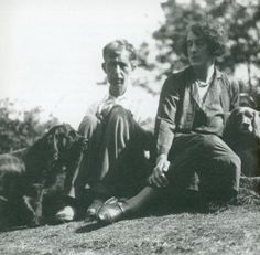 Leonard Woolf and Vita Sackville-West photographed by Virginia Woolf at Monk's House in Rodmell