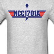 NCC1701A-Top Gun (blue, red) T-Shirts