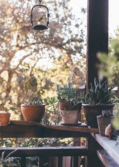 Who doesn't want a rustic porch filled with succulents in sunny California?