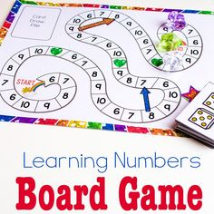 This free printable counting game is perfect for kids who have mastered counting to 5 and need more of a challenge. Learn numbers with your preschooler using the fun ideas from the TeachECE team! Easy Math Games, Math Board Games, Math Boards, Fun Math Activities, Counting Games, Number Games Preschool, Free Math Games, Team Games, Mobile Learning