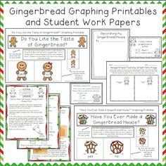 Gingerbread Graphing Printables and Student Work Pages: Teaching The Little People