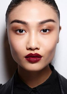 25 New Year's Eve Makeup Ideas | Matte Red Lipstick with Toned-Down Eyes