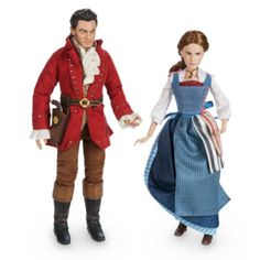 Recreate favourite scenes from Beauty and the Beast with these delightful Belle and Gaston dolls. Featuring exceptional character likeness from the live action film, the posable dolls also wear highly detailed outfits.