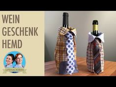 Weinflasche verpacken in Ärmel eines Hemdes | Flasche als Geschenk - YouTube Boss Baby, Making 10, Label Design, Germany, Baby Ideas, Packaging, Baby Shower, Youtube, Handmade