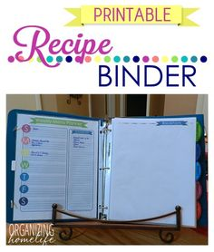 Recipe Binder Organization & Duo Binder Giveaway ~ Organize Your Kitchen Frugally Day 30 | Organizing Homelife