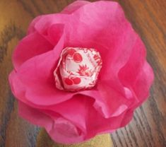Another variation of the lollipop flower for Valentine's Day
