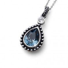 Oliver Weber Women lovely blue pendant necklace antique drop with Swarovski Crystals Montana, Drop, Summer Collection, Swarovski Crystals, Gemstone Rings, Take That, Pendant Necklace, Antiques, Blue