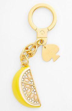 kate spade new york 'lemon tart' key ring | Nordstrom