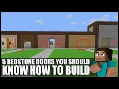 (17) 5 Redstone Doors You Should Know How To Build In Minecraft! - YouTube  sc 1 st  Pinterest & Minecraft: Completely Hidden Redstone/Jeb Door - YouTube | Minecraft ...