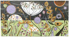 Angie Lewin - Long Bank | Flickr - Photo Sharing! Painted Linoleum print