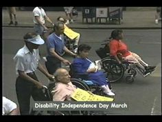 1993 Disability Pride March in NYC - YouTube. Repinned by Venture Community Services.