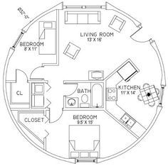 Round House Plans, Tiny House Plans, House Floor Plans, Yurt Interior, Cordwood Homes, Yurt Home, Silo House, Geodesic Dome Homes, Door Gate Design