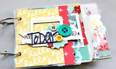 Happy Wednesday! Today I'm sharing a cute mini I created for Clear Scraps! Their Mixable albums are so adorable and fun to use to document an event or favorite photos. I used the Mini Mixable Dainty