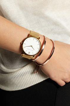 Larsson & Jennings|CM gold-plated watch