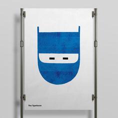 Typefaces Letterpress Poster Batman