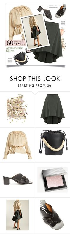 """Asymmetric Skirts"" by lenochca ❤ liked on Polyvore featuring Topshop, J.W. Anderson, Burberry, asymmetricskirts and 60secondstyle"
