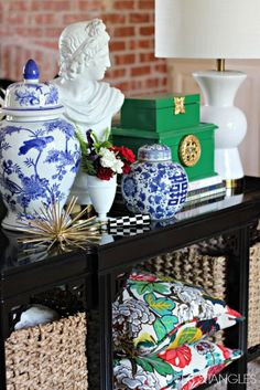 MY FIVE FAVORITE PAINT COLORS- Rustoleum Meadow Green - Dimples and Tangles || Sofa Table Styling