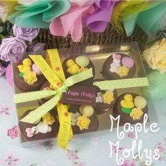 Easter choc covered and decorated oreos