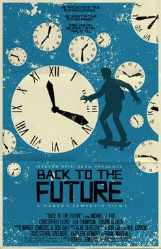 Back To The Future vintage style movie poster