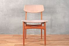 Very handsome danish modern dining chairs with a whole lot of potentional! Sturdy frames with a sleek aesthetic. In good condition with significant stains on the upholstery and one tear. Will need to reupholster the...
