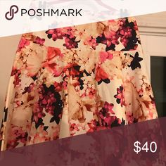 🎊HP 5/30 🎊NWOT Lane Bryant floral skirt 💕 NWOT Circle flare skirt with floral bloom print. Perfect for spring or Easter Sunday! I removed the tag because I thought I would wear it last Easter but ended up wearing another outfit. Never worn but tag has been removed. Super cute! Lane Bryant Skirts Circle & Skater