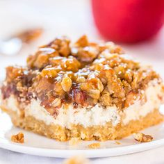 I've made other apple cheesecake bars, two versions of caramel apple bars, caramel apple pie, apple crumbles, apple cakes, apple breadand more. Check out the Related Recipes below for my apple adventures. But there's never been anythingquite like these. Between the rich flavors of salted caramel, apples, and cinnamon to a tempting layer ofcream cheese …
