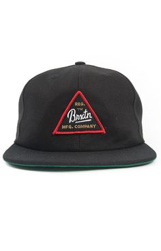 Brixton, Cue Snap-Back Hat - Black - Brixton - MOOSE Limited