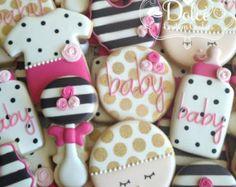 Elephant Baby Shower Cookies por DolceCustomCookies en Etsy