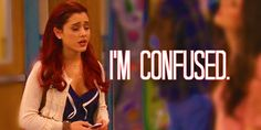 Ariana Grande as Cat Valentine Ariana Grande Gif, Third Culture Kid, Woman Meme, Government Shutdown, Cat Valentine, Valentine Nails, Celebs, Celebrities, Confused
