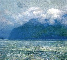 The Silver Veil and the Golden Gate Frederick Childe Hassam (1914) Brauer Museum of Art Painting - oil on canvas