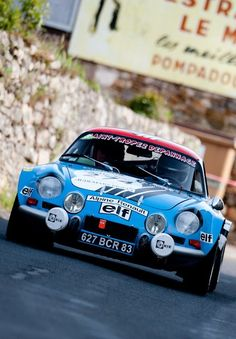 Renault Alpine in rally mode