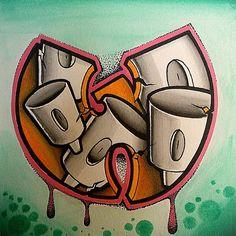 Love Graffiti, Graffiti Artwork, Graffiti Drawing, Graffiti Styles, Wu Tang Tattoo, Rap, Tattoo Design Drawings, Wu Tang Clan, Hip Hop Art